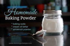 Homemade Baking Powder - Only 3 ingredients!
