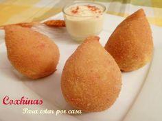 Coxhinas, aperitivo típico de Portugal y Brasil