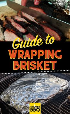We'll explain why you should wrap brisket and look at the difference between wrapping in aluminium, butcher paper or going 'naked'. Grilled Brisket, Brisket Meat, How To Cook Brisket, Beef Brisket Recipes, Smoked Beef Brisket, Smoked Meat Recipes, Smoked Ribs, Beef Tenderloin, Pork Roast