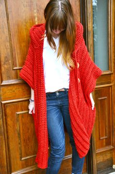 CROCHET PATTERN for The Hooded Poncho via Etsy.