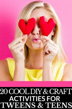 20 Cool DIY & Craft Projects for Tween & Teenage Girls If you're looking for cool and fun DIY and craft projects tween and teenage girls will love, then look no further! From crafts for teens to make and sell, to easy boredom busting DIY projects for tweens & teens, this list of 20 Cool DIY & Craft Projects has you covered! #diysforteens #teendiys