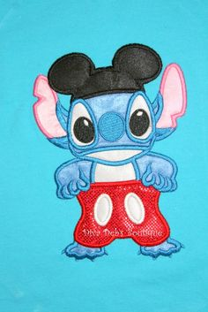 Stitch!!!   Gonna have to get this for Coral before Disney 2013!  This lady's etsy site is AWESOME