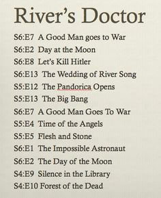 River song's perception of her timeline with the doctor, This is what they show.Mind you there may be other options. Angels take Manhattan is missing. That should be before the second a good man goes to war. Tardis, Serie Doctor, Ella Enchanted, Hello Sweetie, Fandoms, Don't Blink, Torchwood, Geek Out, Bad Wolf