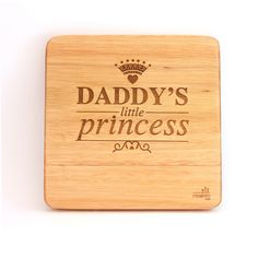 """""""Daddy's little princess"""". A beautiful statement that's just absolutely true. Just perfect for a little girl's room. Wooden Wall Art, Wooden Walls, Daddys Little Princess, African Children, Wall Art Designs, Nursery Art, Bamboo Cutting Board, Laser Engraving, Art Pieces"""