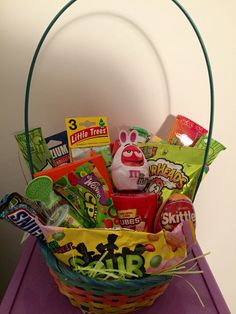 Easter basket i made for my boyfriend full of his favorite candies easter basket for my boyfriend full of his favorite candies and goodies negle Gallery