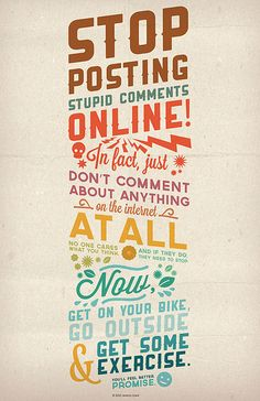 Stop posting stupid comments online! #typography #design