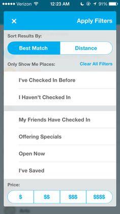 Foursquare - Search customization
