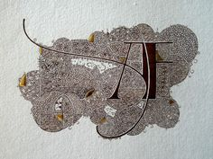 Anachropsy - Calligraphie latine par Benoit Furet - Monogramme filigrané