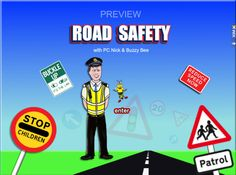 Learn road safety the fun way with Buzzy Bee and PC Nick. A fun educational lesson for kids using music and games.