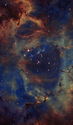 NGC2244 - the Heart of the Rosette Nebula The Rosette Nebula (also known as Caldwell 49) is a large, circular H II region located near one end of a giant molecular cloud in the Monoceros region of the Milky Way Galaxy. The open cluster NGC 2244 (Caldwell 50) is closely associated with the nebulosity, the stars of the cluster having been formed from the nebula's matter. Credit: Jim Collins/Wikipedia