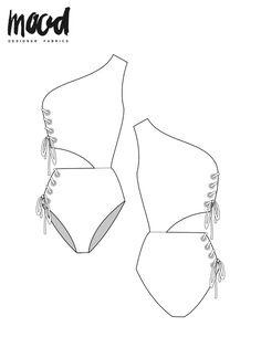 The Sherwood Swimsuit – Free Sewing Pattern – Mood Sewciety - swimsuit style Dress Sewing Patterns, Sewing Patterns Free, Free Sewing, Free Pattern, Pattern Sewing, Sewing Clothes, Diy Clothes, Motif Bikini, Swimsuit Pattern