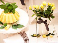 Holunder Sirup - Zitronen Kuchen mit Joghurt