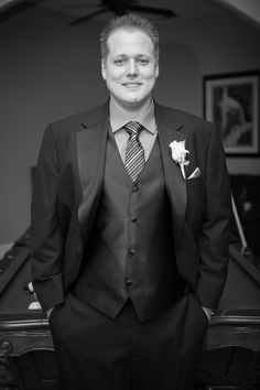 Sharp portrait of the groom