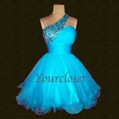 Each of our dress are made to order by hand  Dress code:Y0036  Fabric: Tulle Embellishment: Rhinestone, sequins, beading Straps: One shoulder Sleeves:Sleeveless Fashion: Simple Color: see picture  Size:2,4,6,8,10,12, Custom-made  Each of dress may take 15-20days for processing + 5day...