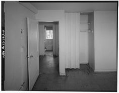 Interior of typical two-bedroom unit in Type A residential building.  View to north. - Lincoln Park Homes, Type A Residential Building, West Colfax Avenue & Marispoa Street, Denver, Denver County, CO
