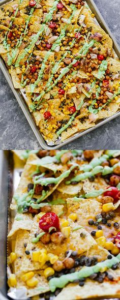 10-Minute Protein Loaded Nachos! Perfect for making in the oven and for an easy, healthy dinner!