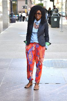 love the pants and overall colorful style African Dresses For Women, African Wear, African Style, African Women, Black Power, Pretty Outfits, Cute Outfits, Harem Girl, Ghanaian Fashion