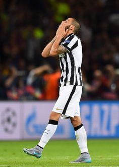 Leonardo Bonucci of Juventus reacts after defeat during the UEFA Champions League Final between Juventus and FC Barcelona at Olympiastadion on June 6, 2015 in Berlin, Germany.