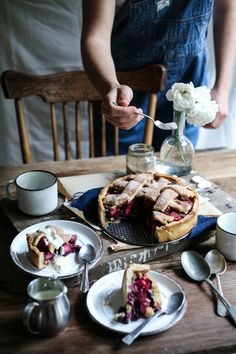 "intensefoodcravings: ""Apple & Blueberry Hazelnut Deep Dish Pie | Daisy and the Fox """