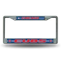 Chicago Cubs MLB Bling Glitter Chrome License Plate Frame