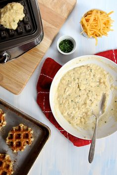 Mashed Potato Waffles with Cheddar and Chive // joy the baker by joy the baker, via Flickr