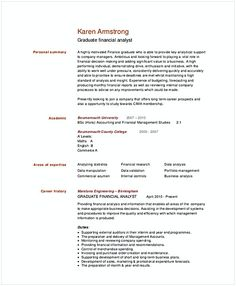 Business Financial Analyst Resume Template  Financial Analyst