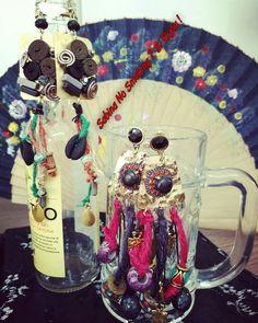 Orecchini boho stile multicolore...vetrina #sabinanosmokingsibijou