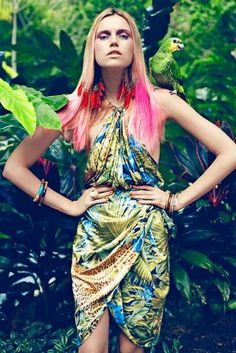 Amazon rainforest, inspiration for our #SS13 collection #swarovski