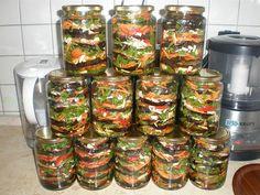 Vă prezentăm o rețetă de vinete delicioase, conservate cu morcov, usturoi și pătrunjel. Acestea se prepară uimitor de simplu și rapid, fiind deosebit de aromate și apetisante. Vinetele sunt perfecte pentru a fi servite cu carne sau în calitate de aperitiv. Bucurați-vă de cele mai delicioase legume pe tot parcursul sezonului rece. INGREDIENTE – vinete – morcov – ulei vegetal – 100 ml oțet 9% – 50 ml de apă – usturoi – sare – ardei iute – pătrunjel Notă:VeziMăsurarea ingredientelor MOD DE… Grill Oven, Vegetarian Recipes, Cooking Recipes, Good Food, Yummy Food, Meals In A Jar, Russian Recipes, Bon Appetit, Food Network Recipes