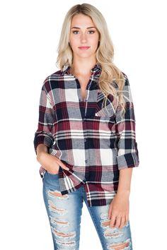 Cora Plaid Flannel Tunic