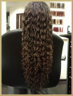 Spiral Curls And A Stylish Spiral Perm Throughout Inspirations Spiral Perm Hairstyle - Hair Style Ideas Long Perm, Spiral Perm Long Hair, Spiral Curls, Long Curly Hair, Wavy Hair, Curly Hair Styles, Natural Hair Styles, Curly Perm, Perms Long Hair