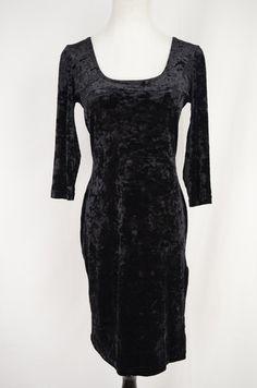 Sky Black Velvet Dress Size L by Sky | ClosetDash