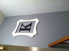 """Hobby Lobby open frame and wooden letter """"K""""."""