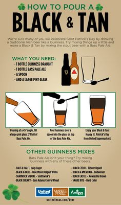 I designed this infographic on how to properly pour a Black & Tan for my company's Facebook page this week!