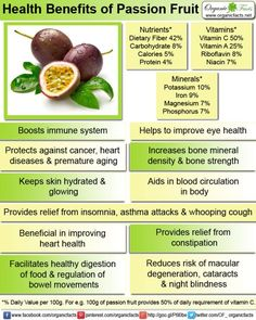 Passion fruit can prevent cancerous growth, stimulate digestion, boost immune function, improve eyesight, increase skin health, regulate fluid balance in the body, lower blood pressure, boost circulation, and improve bone mineral density.