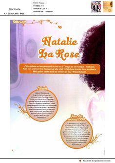 Nathalie La Rose dans Star Inside le 1er octobre 2015 page 1