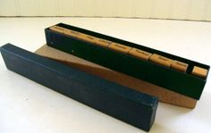 Set of Holiday Wooden Rubber Stamps - Vintage - Complete Set in Original Box