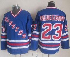 "$34.88 at ""MaryJersey""(maryjerseyelway@gmail.com) Rangers 23 Jeff Beukeboom Blue CCM Heroes Of Hockey Alumni Stitched NHL Jersey"