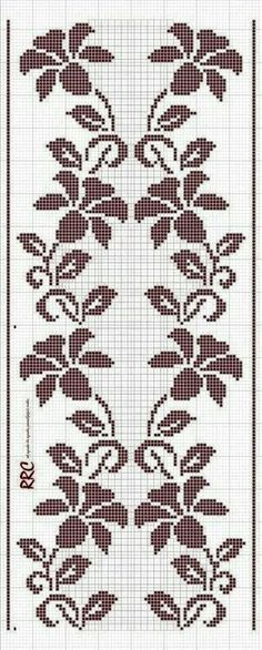This Pin was discovered by sel Cross Stitch Borders, Cross Stitch Rose, Cross Stitch Flowers, Cross Stitch Designs, Cross Stitching, Cross Stitch Patterns, Filet Crochet Charts, Crochet Cross, Knitting Charts