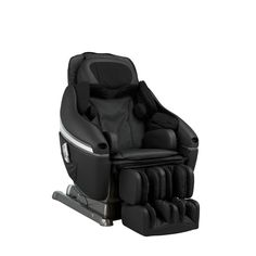 Inada Dreamwave Genuine Leather Massage Chair at Brookstone—Buy Now!