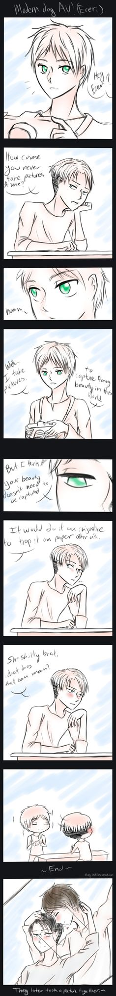 This is so freaking cute >w< || SNK - more Levi x Eren by magickitt