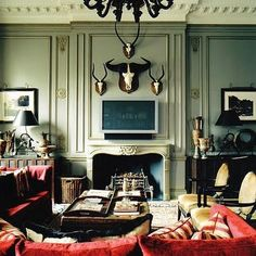 Nicky Haslam living room