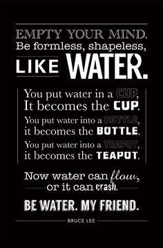 Bruce Lee water quote  #brucelee #bruceleequotes #kurttasche