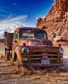 Old Dodge Truck Old Dodge Trucks, Old Pickup Trucks, Farm Trucks, Cool Trucks, Dodge Cummins, Dodge Challenger, Classic Chevy Trucks, Classic Cars, Velo Design