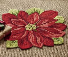 Poinsettia accent rug. The Country Door.