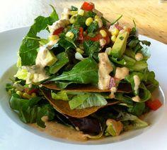 raw taco salad from genius matthew kenney restaurant