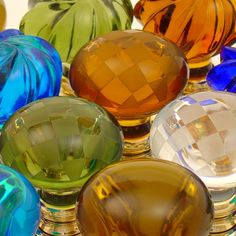 Merlin Glass Knobs.. interesting and eccentric, I like it :)
