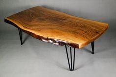 unique live edge black walnut coffee table natural modern reclaimed wood. Black Bedroom Furniture Sets. Home Design Ideas