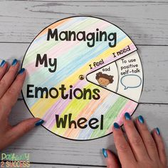 Managing My Emotions Wheel Managing My Emotions Wheel,Heilsames Malen & Kunsttherapie Spend time talking about emotions with kids and young adults. Read up on this and more ways to integrate social emotional learning. Social Emotional Activities, Emotions Activities, Teaching Social Skills, Counseling Activities, School Counseling, Elementary Counseling, Time Activities, Emotional Support Classroom, Emotional Kids