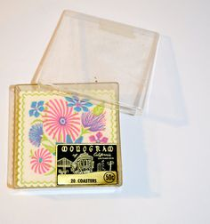 Vintage Groovy Monogram Coasters Set of 16 Bright by AmoreDolce, $10.00